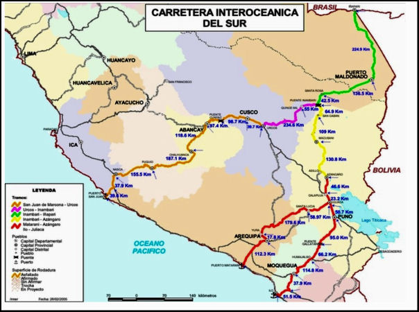 Interoceanic Highway to Critically Damage Andes-Amazon in Peru ...